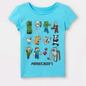 Minecraft girls graphic tee